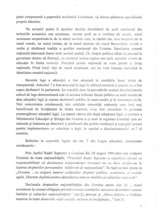 Cernauti Memoriu Comisiei de la Venetia-14.10.2