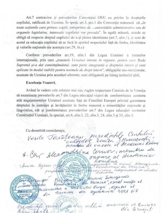 Cernauti Memoriu Comisiei de la Venetia-14.10.5
