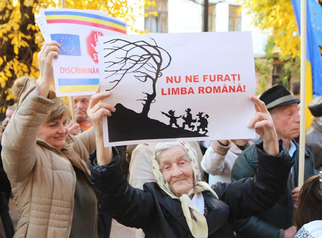 Cernauti proteste contra Lege Educatie 2-foto Nicolae Hauca-17 oct 2017
