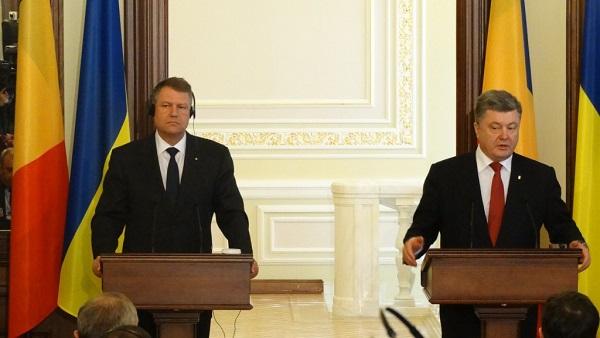 Klaus Iohannis Romania si Petro Porosenko Ucraina-2013
