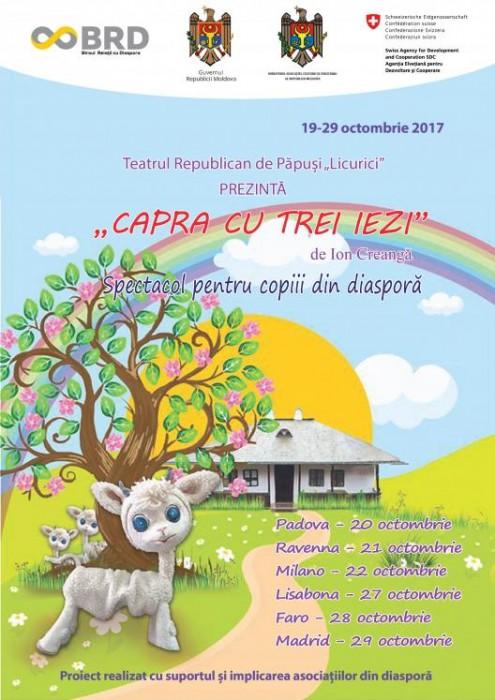 Teatrul Licurici turneu Europa-poster