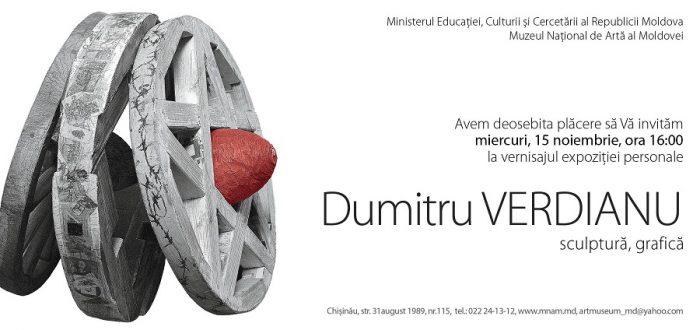 Dumitru Verdianu-Expozitie Chisinau-invitatie-15 nov 2017