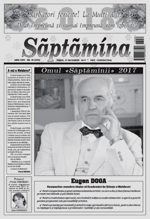 2-Eugen Doga-Omul Saptaminii 2017-pagina 1 din Saptamina-29 dec 2017