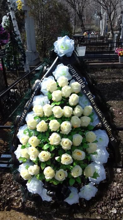 Nina Jovmir funeralii 16 martie 2018-Coroana flori TRM-079