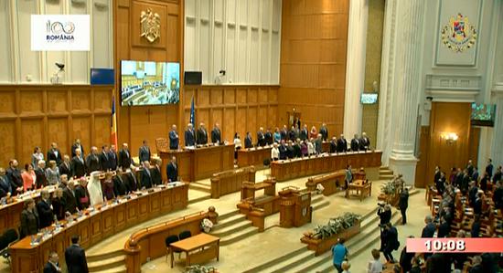 Parlamentul Romaniei-sedinta solemna Unirea Basarabiei cu Romania 100 ani-foto 1