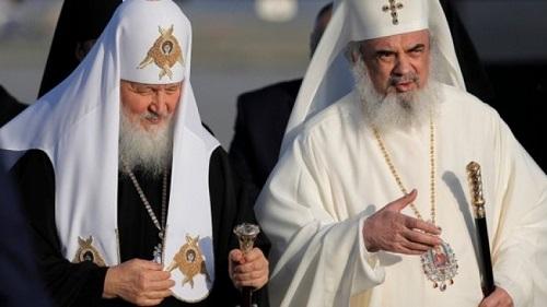 Patriarhul Rusiei Kirill-Patriarhul Romaniei Daniel-oct 2017